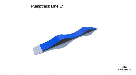 Pista ciclabile Pumptrack composta da moduli